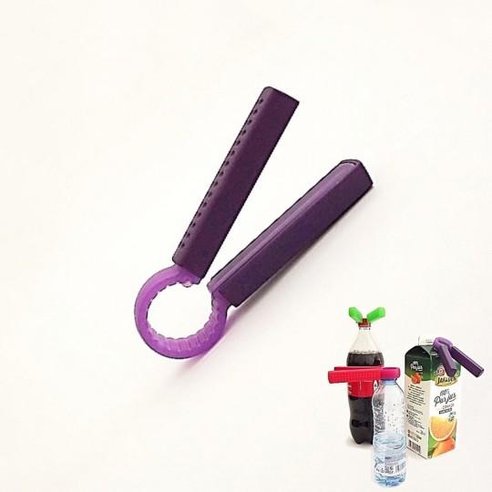 Ouvre bouteille d'eau - Twisty - Violet