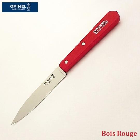 Opinel Couteau de cuisine sans dents bois rouge vue 1