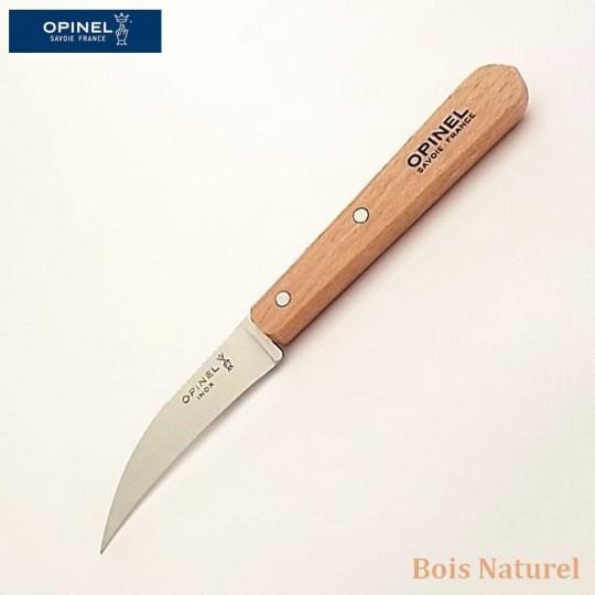 Opinel Couteau de cuisine serpette bois naturel vue 1