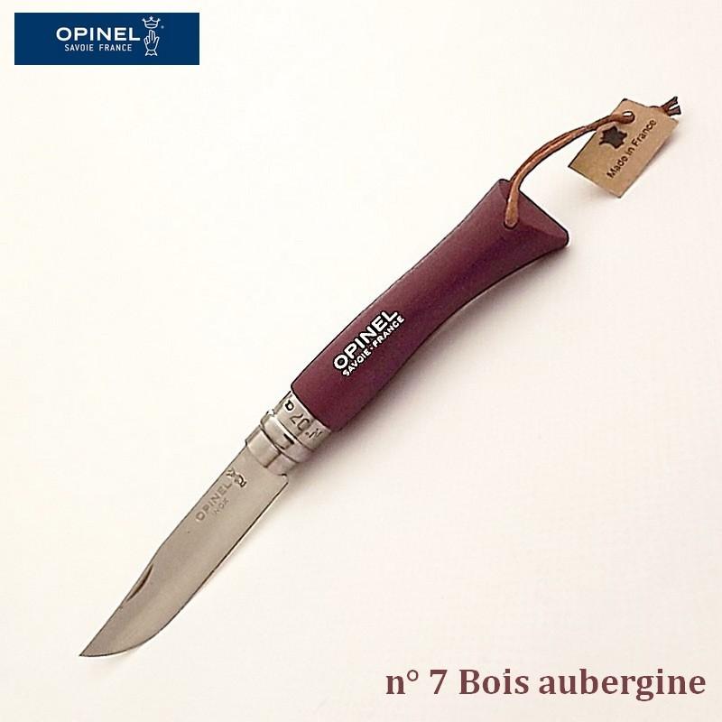 Opinel Couteau de poche baroudeur n° 7 bois aubergine vue 1