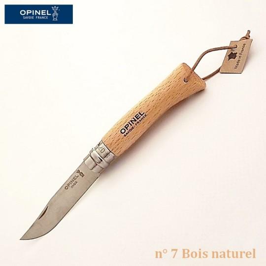 Opinel Couteau de poche baroudeur n° 7 bois naturel vue 1