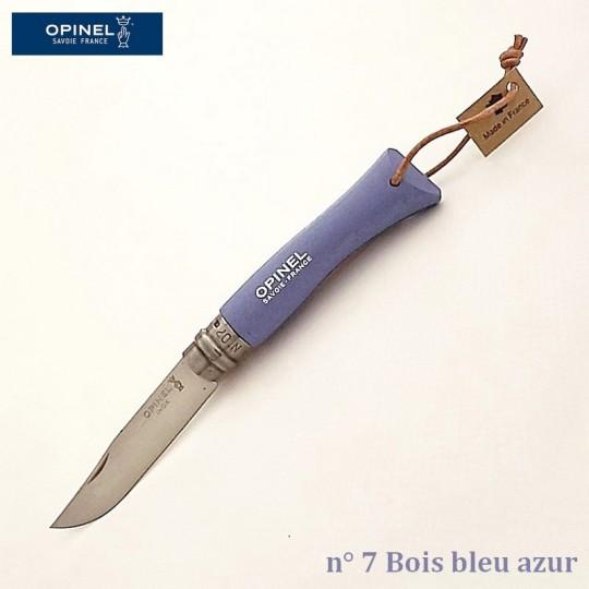 Opinel Couteau de poche baroudeur n° 7 bois bleu vue 1