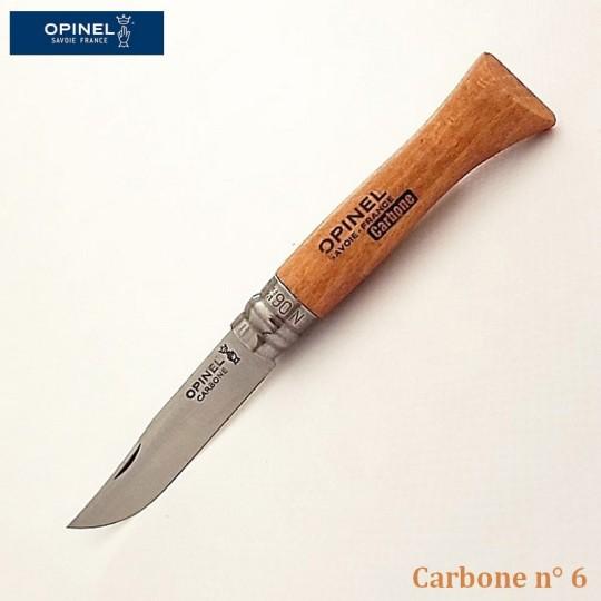 Opinel Couteau de Poche Carbone n°6 - Vue 1