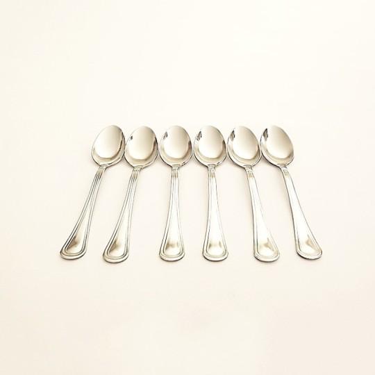 Lot de 6 cuillères à dessert inox - 13 cm - vue 1