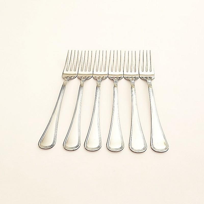 Lot de 6 fourchettes inox - vue 1