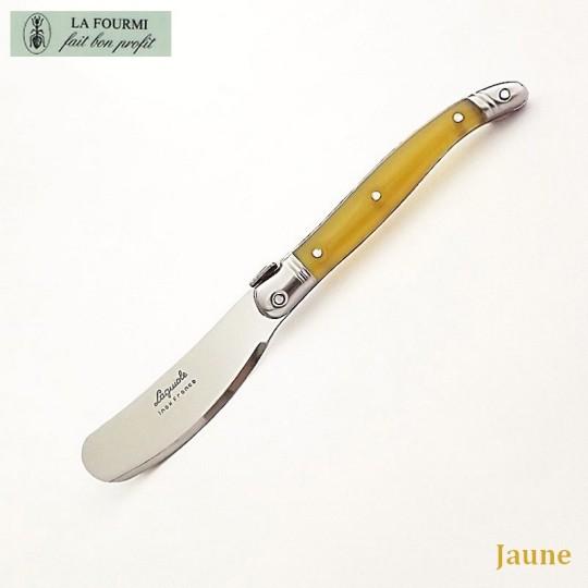 Laguiole couteau à beurre jaune