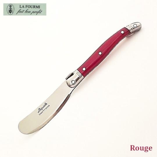Laguiole couteau à beurre rouge