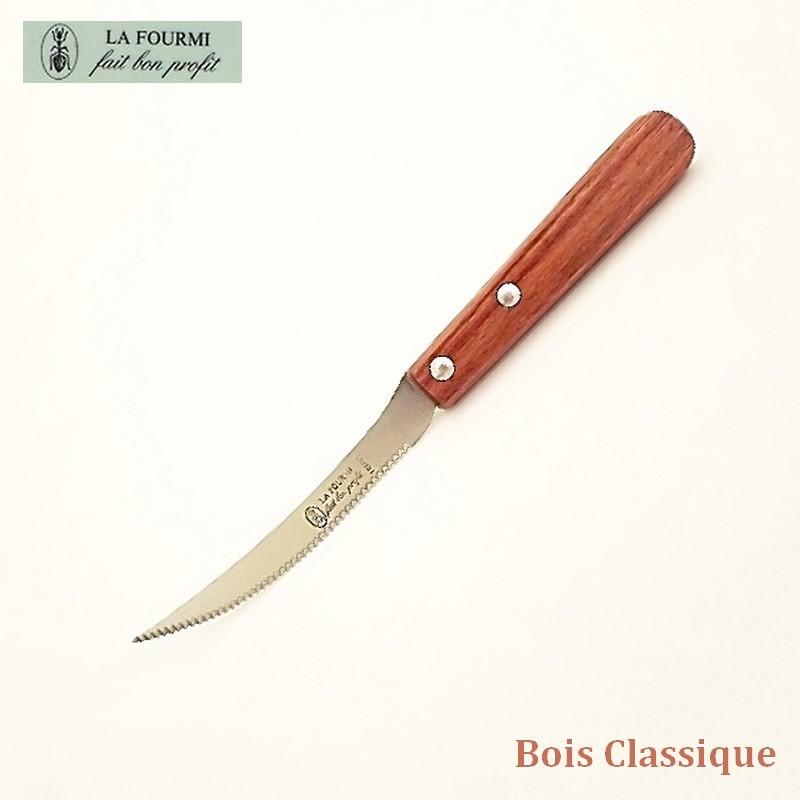 La Fourmi Couteau de Cuisine à Tomate - Bois classique