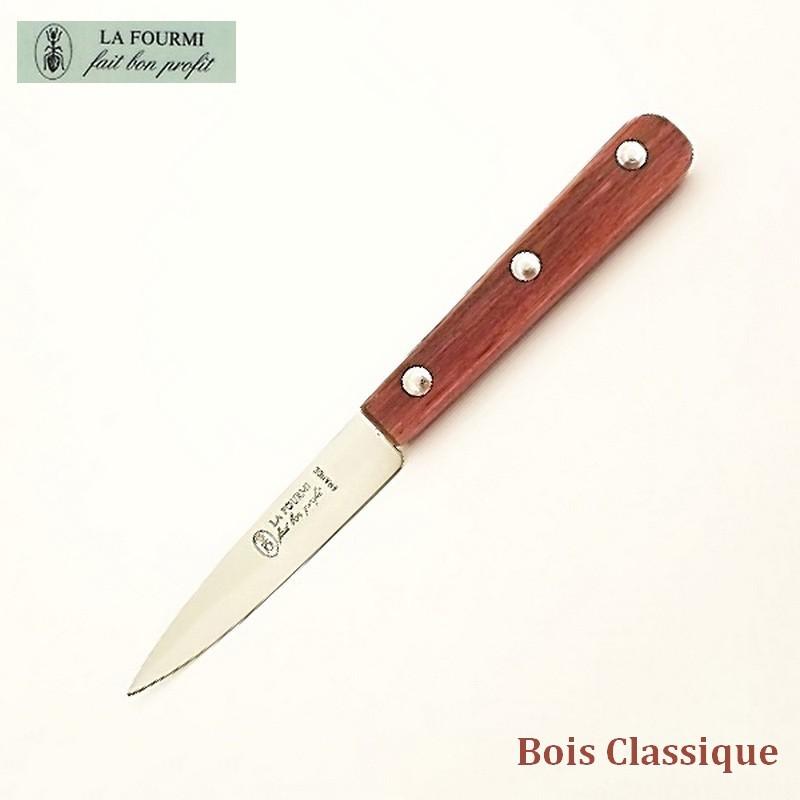 La Fourmi Couteau de Cuisine Lisse 8 cm - Bois classique