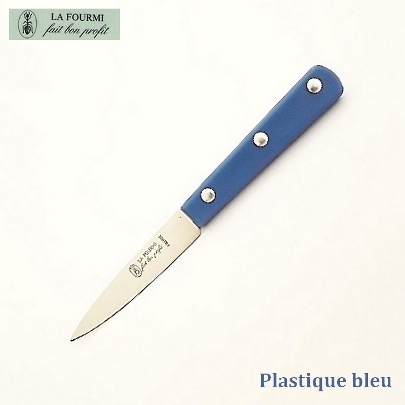La Fourmi Couteau de Cuisine Lisse 8 cm -  Plastique Bleu