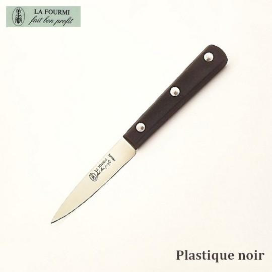 La Fourmi Couteau de Cuisine Lisse 8 cm -  Plastique Noir