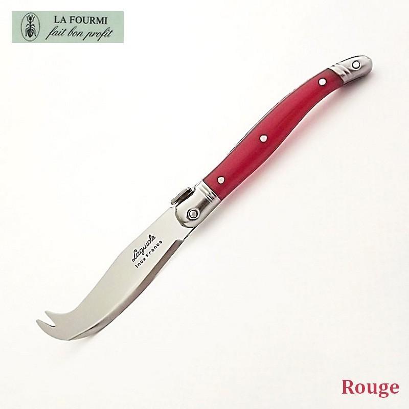 Fromagette Couteau de cuisine Laguiole par La Fourmi - Plastique rouge