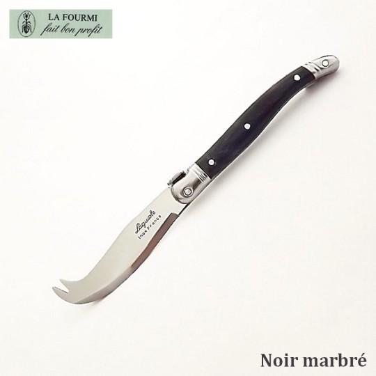 Fromagette Couteau de cuisine Laguiole par La Fourmi - Plastique noir marbré
