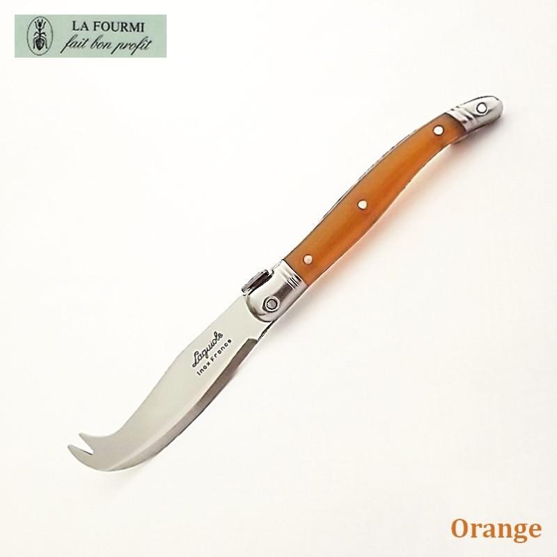 Fromagette Couteau de cuisine Laguiole par La Fourmi - Plastique orange