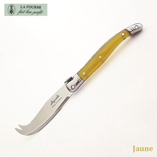 Fromagette Couteau de cuisine Laguiole par La Fourmi - Plastique jaune