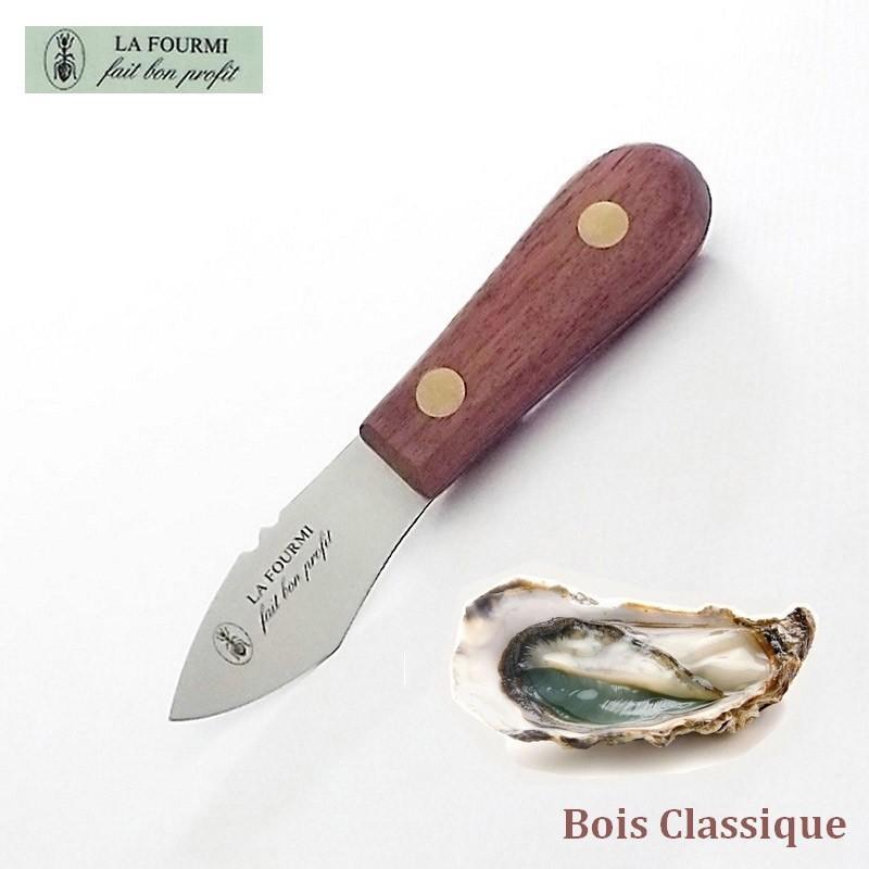 Couteau de cuisine à huître large La Fourmi Bois classique
