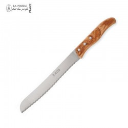 La Fourmi Couteau à pain 32 cm - Bois olivier