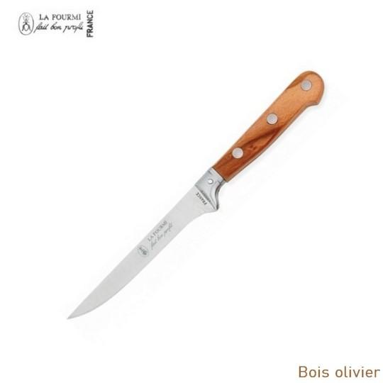 La Fourmi couteau de table gamme Prestige sans dents - bois olivier