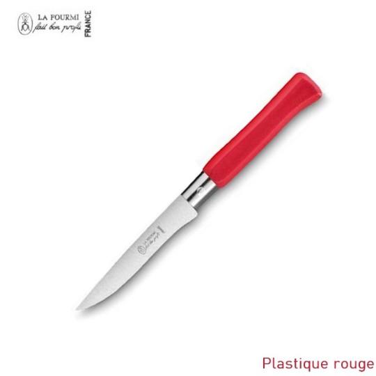 La Fourmi couteau de table gamme country sans dents - plastique rouge
