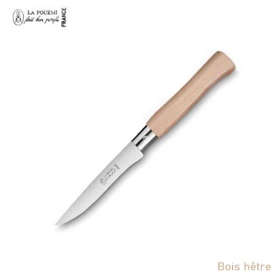 La Fourmi couteau de table gamme country sans dents - bois hetre