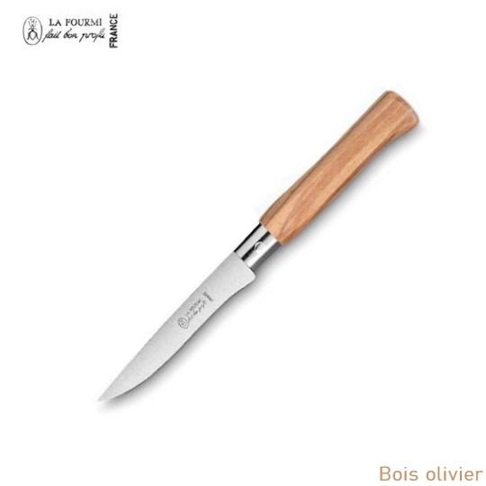 La Fourmi couteau de table gamme country sans dents - bois olivier
