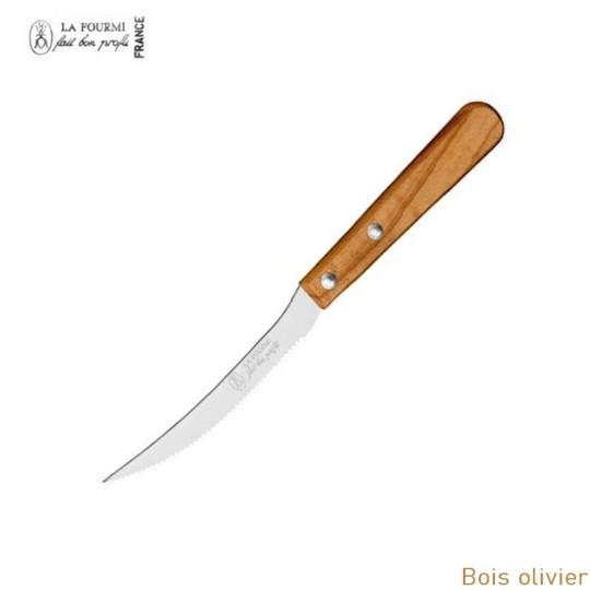 La Fourmi Couteau de cuisine a tomate - Bois d'olivier