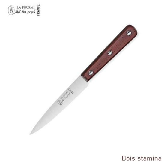 La Fourmi Couteau de cuisine Lisse 10 cm - Bois stamina