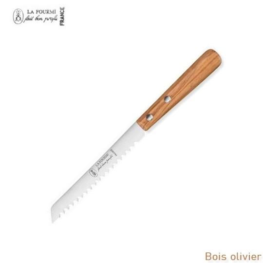 La Fourmi couteau a pain baguette - bois olivier