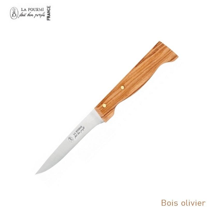 la fourmi couteau de table cote a l'os sans dents - bois olivier