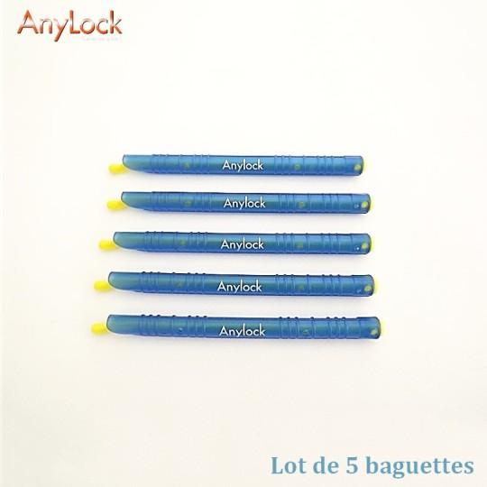 Lot de 5 Baguettes Anylock - Bleu - Petite - 13 cm - Vue 1 - coutellerie-du-sud.com
