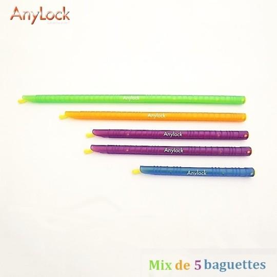 Mix de 5 Baguettes Anylock 1 - Vue 1 - coutellerie-du-sud.com