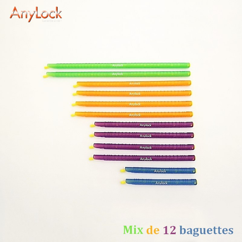 Mix de 12 Baguettes Anylock 1 - Vue 1 - coutellerie-du-sud.com