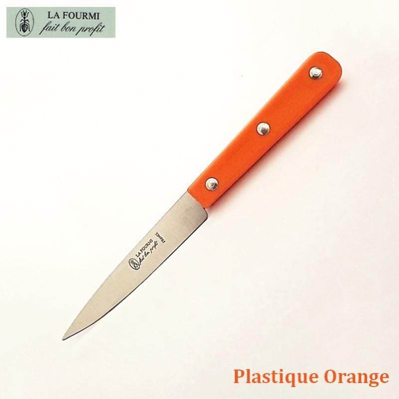 La Fourmi Couteau de Cuisine Lisse 10 cm Plastique orange - Vue 1