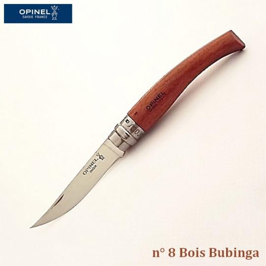 Opinel Couteau de Poche Effilé N°8 Bois bubinga - Vue 1