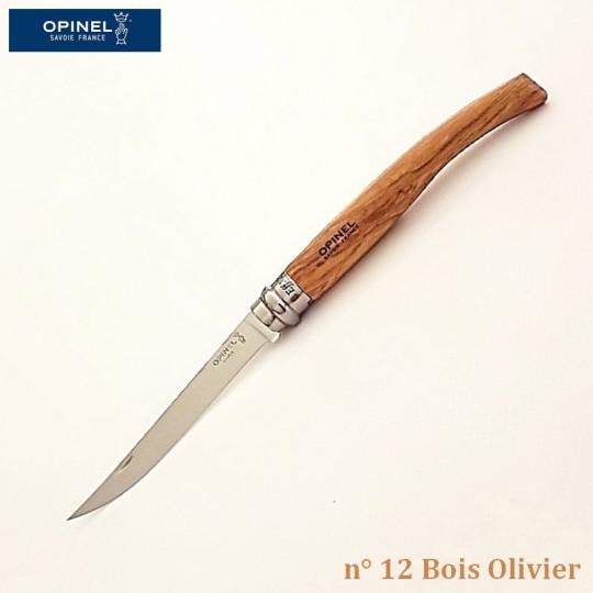 Opinel Couteau de Poche Effilé N°12 Bois olivier - Vue 1