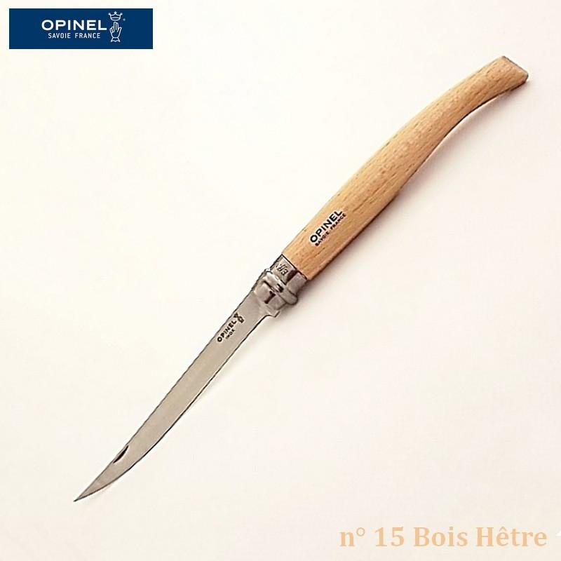 Opinel Couteau de Poche Effilé N°15 Bois hêtre - Vue 1
