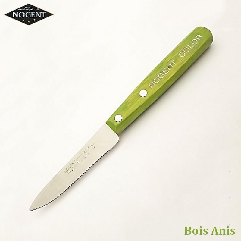 Nogent Couteau Cranté Bois anis - Vue 1